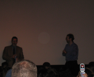 John Landis and Ray Privett at Pioneer Theater in NYC